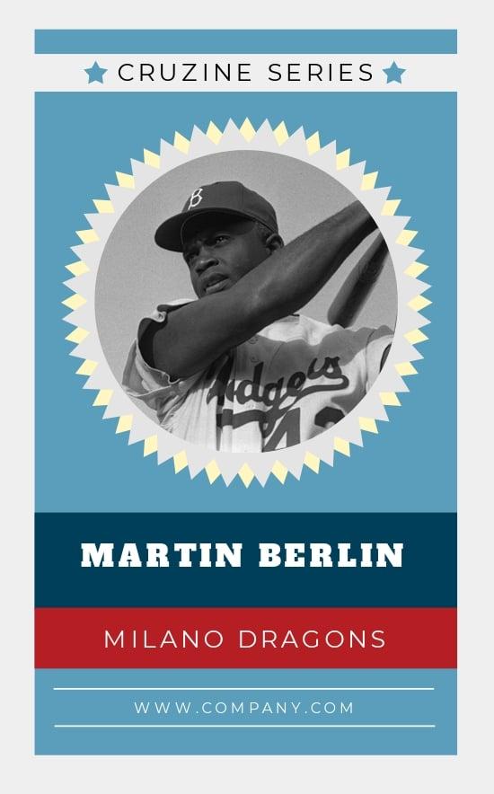 Free Baseball Trading Card Template