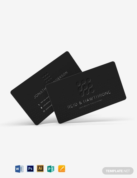 Embossed Business Card Template