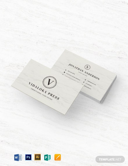 Engraved Business Card Template