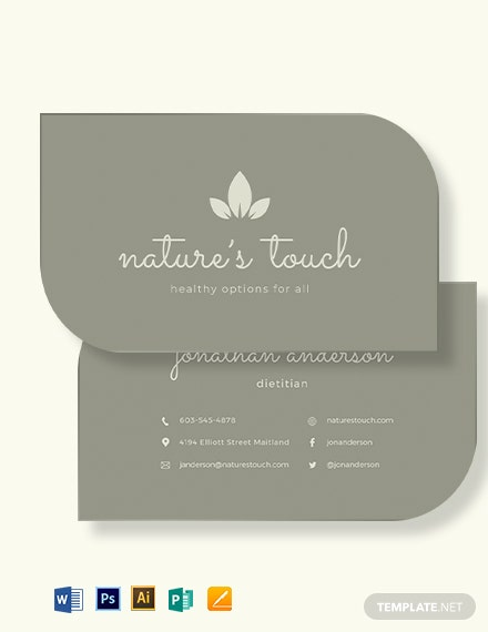 Leaf Shaped Business Card Template
