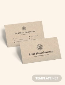 Recycled Business Card Template