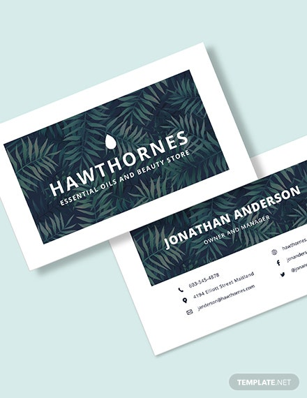 Sample Small Business Card