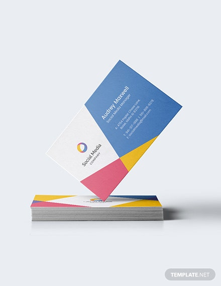 Social Media Business Card Download