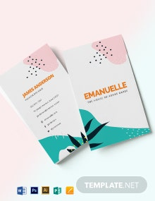 Thick Business Card Template