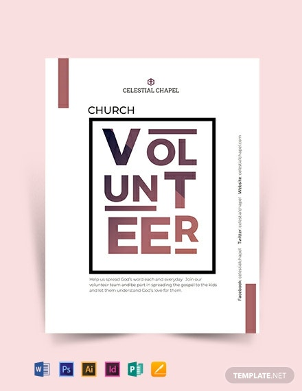 church volunteer flyer template 440x570 1
