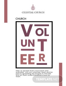 Church Volunteer Flyer Template