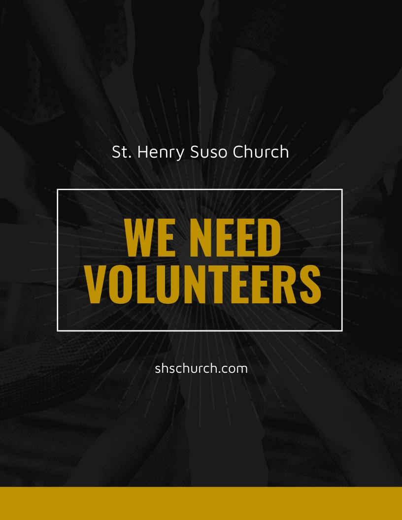 Church Volunteer Flyer Template