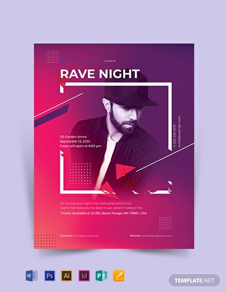 rave night event flyer template 440x570 1