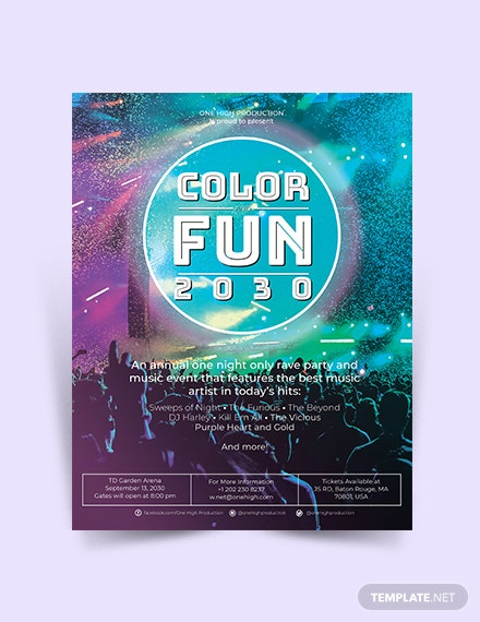 Rave Night Flyer Template