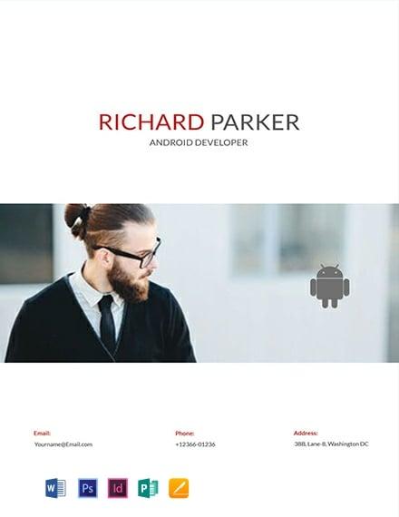 Free Junior Android Developer Resume Template