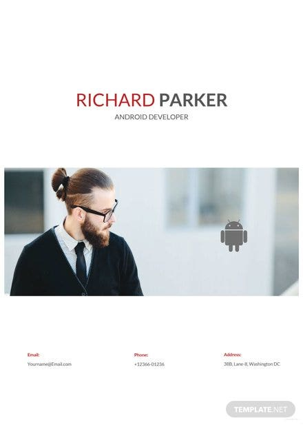 Free Junior Android Developer Resume Template