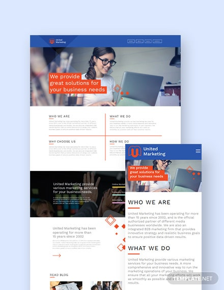 Marketing Firm Landing page WordPress Theme