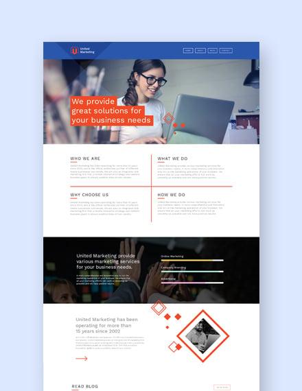 Sample Marketing Firm Landing page Wordpress Theme