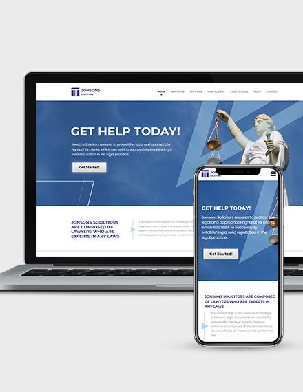 Law Firm Landing Page Wordpress Theme Download