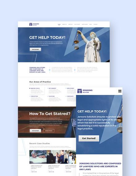 Law Firm Landing Page WordPress Theme