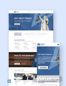 Law Firm WordPress Theme/Template