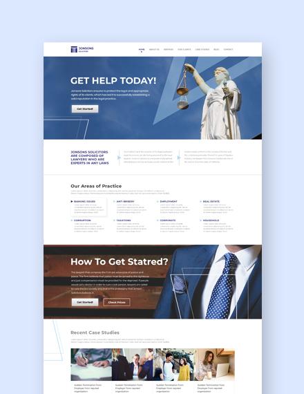 Sample Law Firm Landing Page Wordpress Theme
