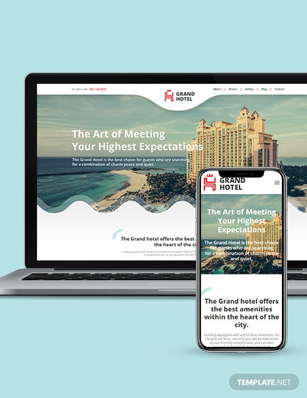 Hotel Landing Page Wordpress Theme Download