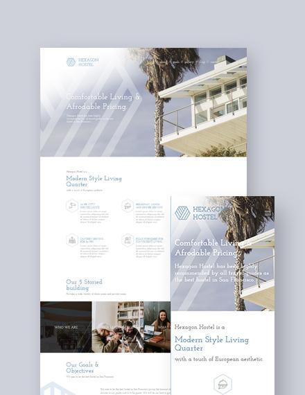 Hostel  Landing Page WordPress Theme