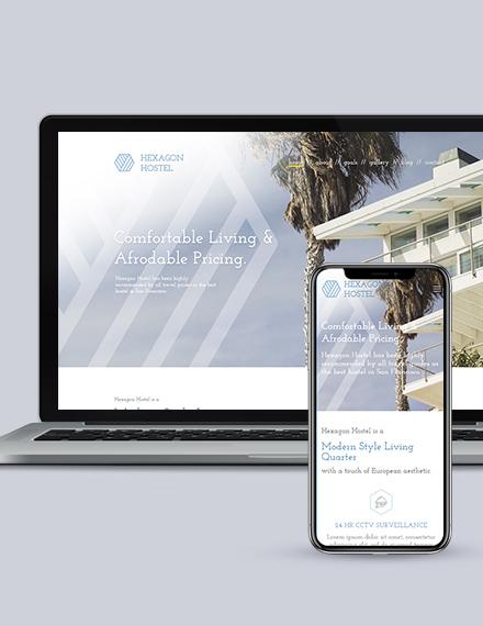 Hostel  Landing Page Wordpress Theme Download