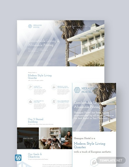 Hostel  WordPress Theme/Template