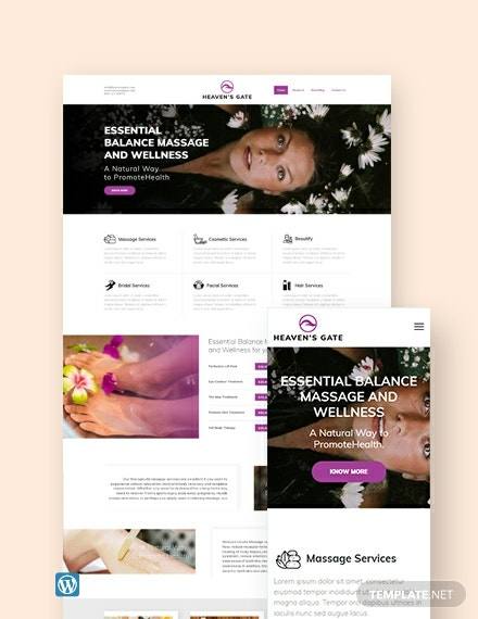 Massage WordPress Theme/Template