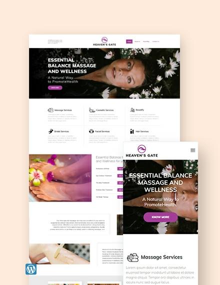 Massage WordPress Theme/Template