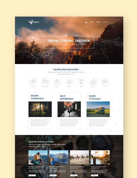 Sample Tours  Travels  Landing Page Wordpress Theme