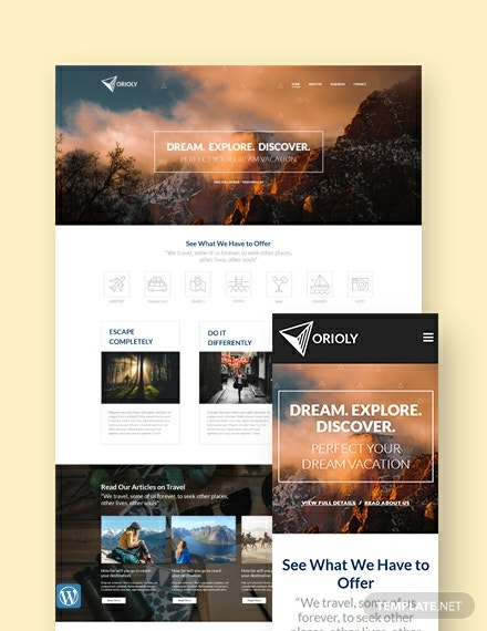 Tours Travels Wordpress Template Theme Template Net