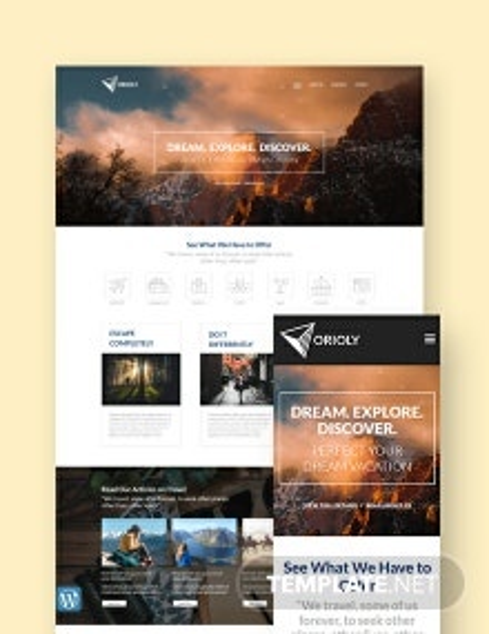 Tours & Travels WordPress Theme/Template