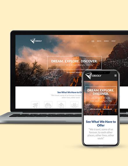 Tours  Travels  Landing Page Wordpress Theme Download