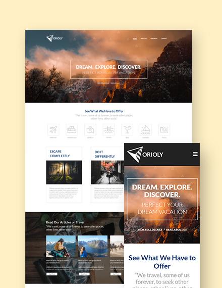 Tours & Travels  Landing Page WordPress Theme