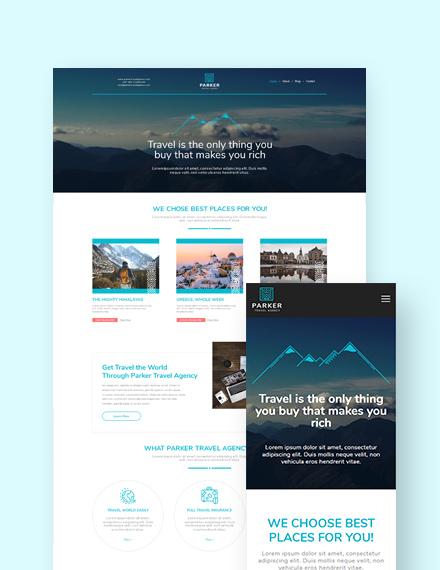 Travel Agency Landing Page WordPress Theme