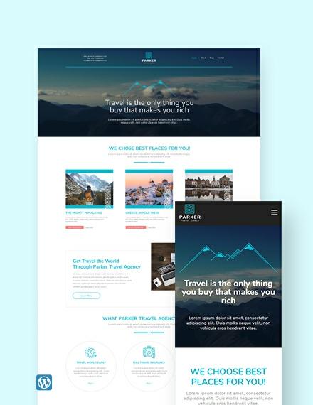 Travel Agency WordPress Theme/Template