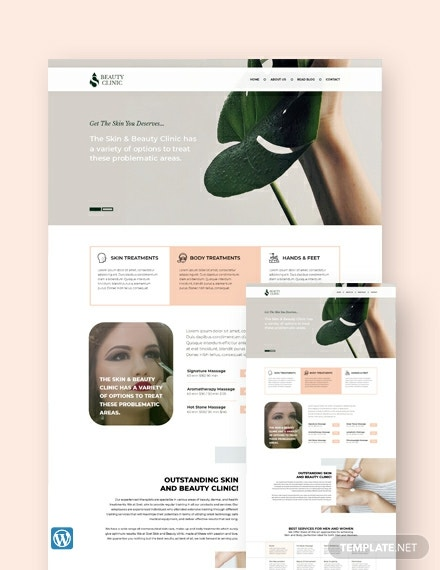 Skin Beauty WordPress Theme/Template
