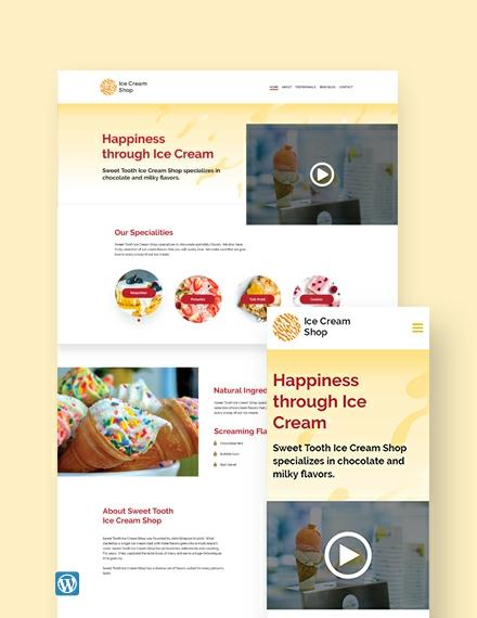 Ice Cream WordPress Theme/Template