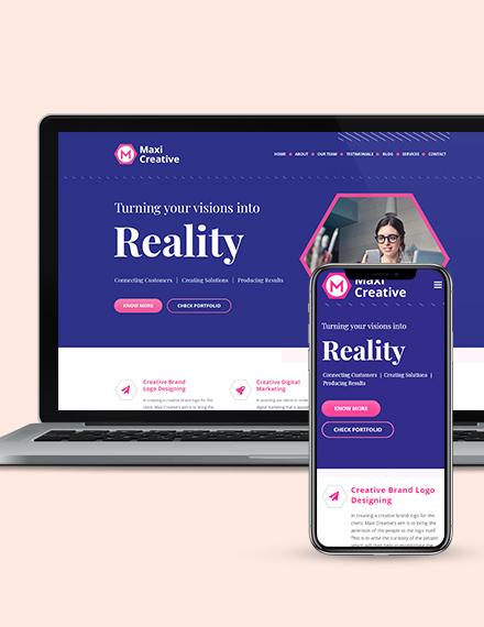 Creative Agency Landing Page Wordpress Theme Download