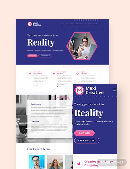 Creative Agency Landing Page WordPress Theme