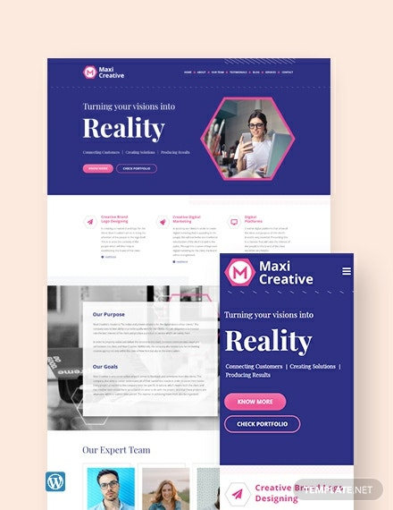 Creative Agency WordPress Theme/Template