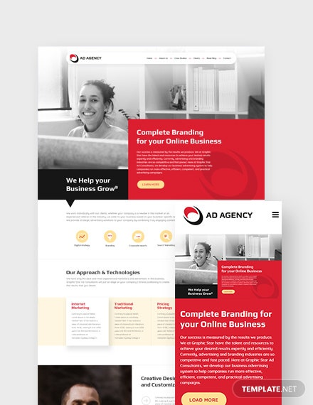 Advertising Consultant Landing Page WordPress Theme
