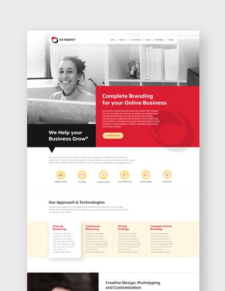 Sample Advertising Consultant Landing Page Wordpress Theme