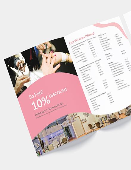 Beauty Salon Bifold Brochure Download
