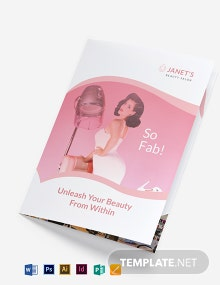 Beauty Salon Bi-Fold Brochure Template