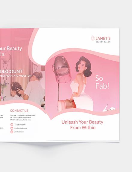 Sample Beauty Salon Bifold Brochure