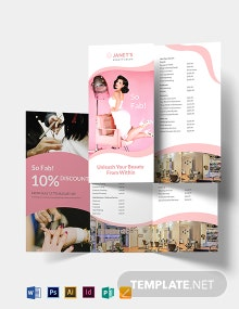 Beauty Salon Trifold Brochure Template