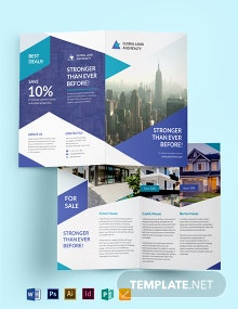 Business Landscape Bifold  Brochure Template