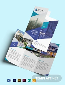 Business Landscape Tri-Fold Brochure Template