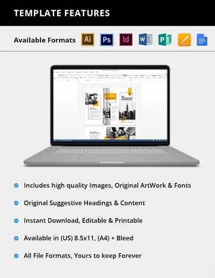 Editable Business Marketing Brochure