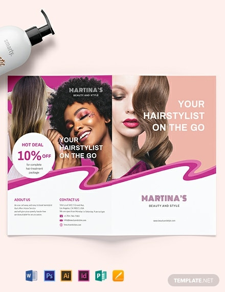 Hairstylist Bifold Brochure Template