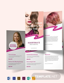 Hairstylist Tri-Fold Brochure Template